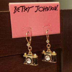 Betsey Johnson Camera Earrings